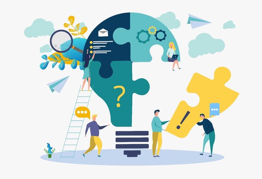 Teamwork Lightbulb Puzzle Image